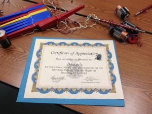 Deerlake Certificate of Appreciation