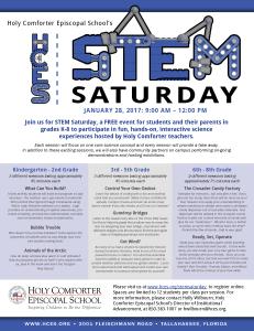 STEM Saturday Flyernomarks