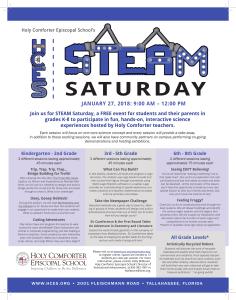STEM Saturday Flyer